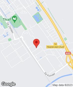Locatie Autohandel J. Veenstra op kaart