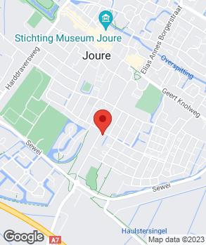 Locatie Bergsma Joure op kaart