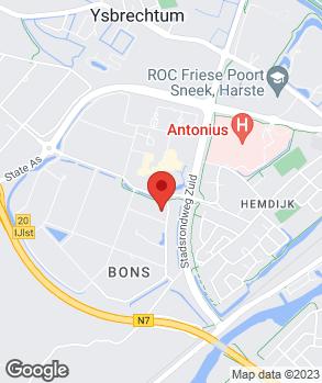 Locatie Van der Schaaf Sneek B.V. op kaart