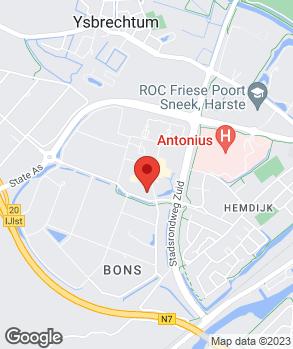 Locatie Profile Car & Tyreservice Friese Banden Service op kaart