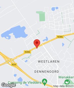 Locatie Van Veldhuizen Zuidlaren B.V. op kaart