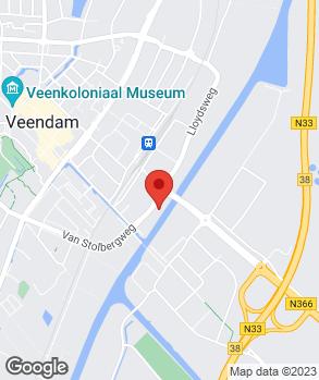 Locatie Autohuis Bouwsema Veendam B.V. op kaart