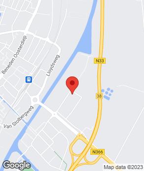 Locatie Century Autogroep Veendam op kaart
