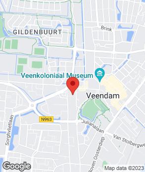 Locatie Autoservice Veendam op kaart