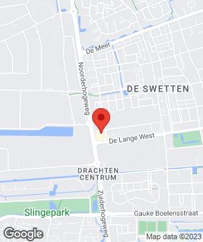 Locatie Autobedrijf Hylkema Drachten B.V. op kaart