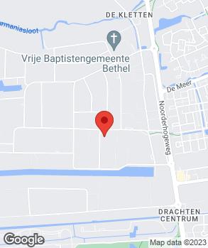Locatie Autoland Drachten op kaart