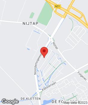 Locatie Van der Schaaf Drachten B.V. op kaart