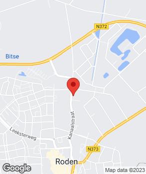 Locatie Autoservice Roden op kaart