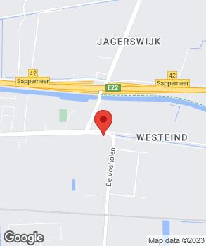 Locatie Garagebedrijf Visa op kaart