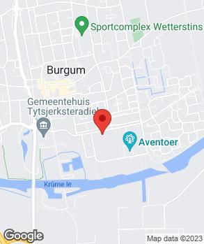 Locatie Haaima Burgum op kaart