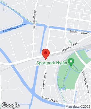 Locatie De Bandencentrale van Leeuwarden op kaart