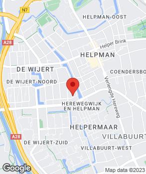 Locatie Automobielbedrijf Groningen Zuid op kaart