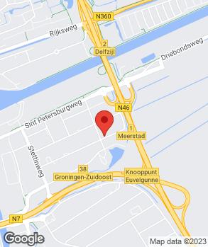 Locatie Van Veldhuizen Groningen B.V. op kaart