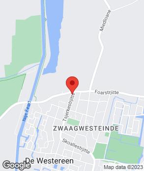 Locatie Johan Wijbenga op kaart