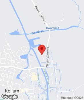 Locatie Autohandel Dijkstra-de Jong Oudwoude op kaart