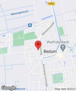 Locatie Garagebedrijf Homan op kaart