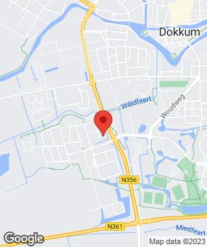 Locatie Bourguignon Dokkum op kaart