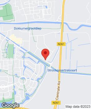 Locatie V.O.F. Autobedrijf A. Dijkstra op kaart