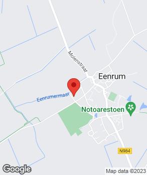 Locatie Vos Auto's Eenrum op kaart