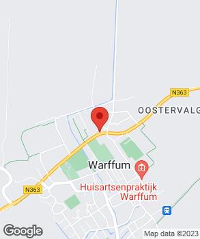 Locatie Bakker Auto Centrum Warffum B.V. op kaart