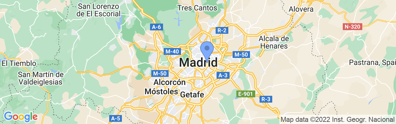 Staticmap?size=1280x200&maptype=roadmap&center=40.4167754%2c 3.7037901999999576&markers=size:mid%7ccolor:blue%7c40.4142189026%2c 3