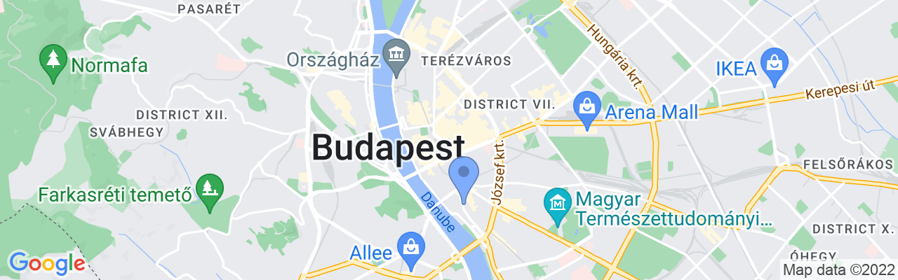 Staticmap?size=1280x200&maptype=roadmap&center=47.49683919848426%2c19.05836673294061&markers=size:mid%7ccolor:blue%7c47.4859695435%2c19