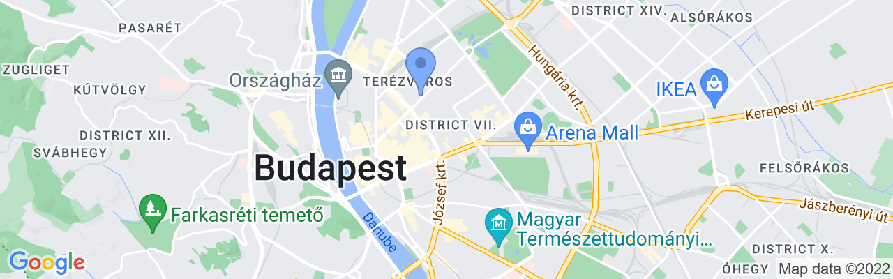 Staticmap?size=1280x200&maptype=roadmap&center=47.50034746801968%2c19.072164016113216&markers=size:mid%7ccolor:blue%7c47.5074157715%2c19