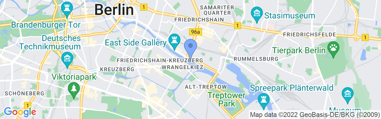 Staticmap?size=1280x200&maptype=roadmap&center=52.50177168674811%2c13.44885214071951&markers=size:mid%7ccolor:blue%7c52.5017%2c13