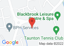 map to Taunton - BlackBrook Pavilion Sports Centre