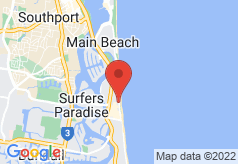 Breakfree Moroccan Surfers Paradise on map