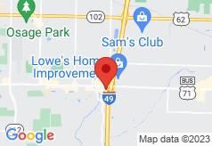 Econo Lodge Inn & Suites Bentonville on map