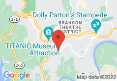 Brookwood Inn Branson on map