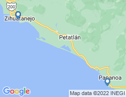 map of fishing charters in Guerrero
