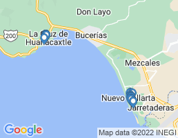 map of fishing charters in Nayarit