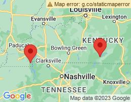 map of fishing charters in Kentucky