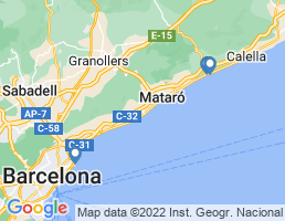 map of fishing charters in Cataluña