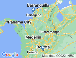 map of fishing charters in Colombia