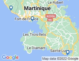 map of fishing charters in Martinique