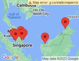 map of fishing charters in Malaysia