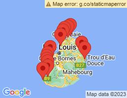 map of fishing charters in Flic en Flac