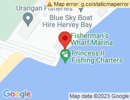 map of fishing charters in Urangan