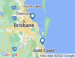 map of fishing charters in Moreton Island