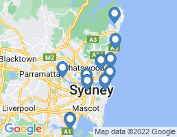 map of fishing charters in Rhodes