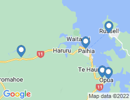 map of fishing charters in Haruru