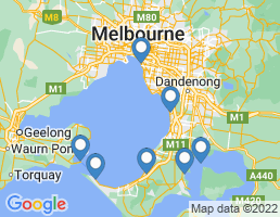 map of fishing charters in Mornington