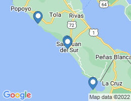 map of fishing charters in San Juan Del Sur