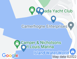 map of fishing charters in St Georges