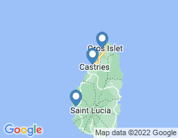 map of fishing charters in Rodney Bay