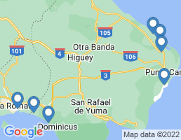 map of fishing charters in Bávaro