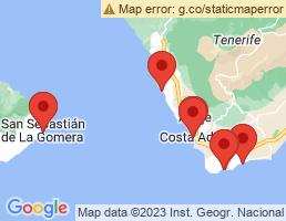 map of fishing charters in San Sebastián De La Gomera